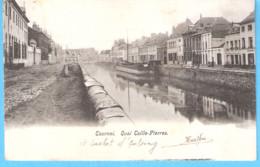 Tournai (Hainaut)-+/-1900 (précurseur)-Quai Taille-Pierres-Péniche-Estaminet Sur La Droite-Cachet De Vaulx - Tournai