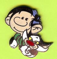 Pin's BD Gaston Lagaffe Et Chat Dingue - 6D07 - Fumetti