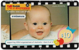 Australia - Primus - Kodak Express 2-3, Babies, Exp.09.1999, GSM Refill 10$, Used - Australia
