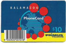 Australia - Primus - Kalamazoo, Remote Mem. 10$, Used - Australia