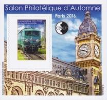 CNEP Le N°  73 A De 2016 - Bloc Non Dentelé - Salon D'automne à PARIS - Locomotive CC-71076 - Gare De Lyon - CNEP