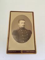 Photo CDV - Homme - Militaire - Louis Collet Rennes - Albuminée 1880 - Fotos