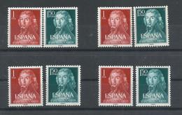 ESPAÑA   EDIFIL  1328/29  ( 4 SERIES)  MNH  ** - 1931-Hoy: 2ª República - ... Juan Carlos I