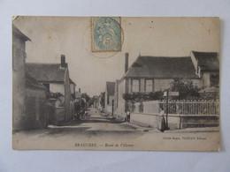 Branches (Yonne) - Route De Villemer - Carte Animée, Circulée En 1906 - Other Municipalities