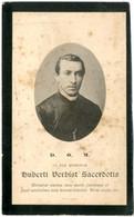 Dp. Onderpastoor. Verbist Hubertus. ° Gheel 1846 † Mechelen 1899  (2 Scan's) - Religión & Esoterismo