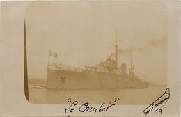 Themes Div-ref FF607- Bateaux -marine Militaire -carte Photo Bateau De Guerre Le Courbet *- - Guerra