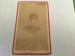 Photo CDV - Homme - Militaire - E.hamonic Saint-brieuc  - Albuminée 1880 - Fotos