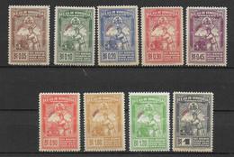 VENEZUELA  - 1944 - POSTE AERIENNE SERIE COMPLETE YVERT N°186/194 ** MNH (LE 192 EST * MH) - COTE = 55 EUR. - Venezuela