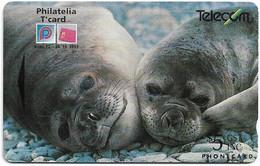 New Zealand - NZT (GPT) - Event Cards Onwards '92 - Elephant Seals, 1993, 5$, 15.000ex, Used - Nuova Zelanda