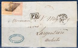 Suisse Lettre De 1857. Affranchissement Composé. A Saisir! - Briefe U. Dokumente