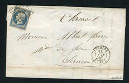 Rare Lettre D'Issoire Pour Clermont Ferrand ( 1853 ) Avec Un N° 10 Présidence - 1852 Louis-Napoléon