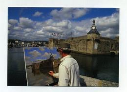 CP Utilisée. A Concarneau, Le Plaisir De Peindre La Ville Close. Bretagne Brittany Britain Breizz Peintre Maler Painter - Concarneau