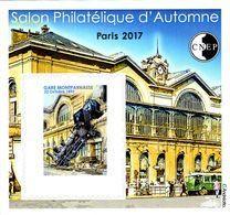 CNEP Le N°  76 A De 2017 - Bloc Non Dentelé - Salon D'automne à PARIS - Gare Montparnasse - CNEP
