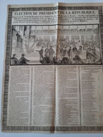 """Affiche """" Election Du Président De La République """" Louis Napoléon Bonaparte  1848 ( Feuille Papier Journal  55 X 45 Cm - Posters"""