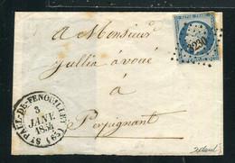 Rare Lettre De St Paul De Fenouillet Pour Perpignan ( 1853 ) Avec Un N° 10 Présidence - 1852 Louis-Napoléon
