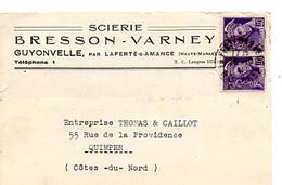E 5 1941 Carte Entete Scierie  à Guyonvelle Par Laferté Sur Amance - Poststempel (Briefe)