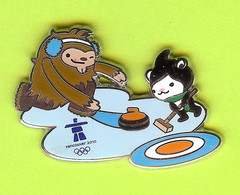 Pin's JO Jeux Olympiques Vancouver 2010 Curling Mascottes Quatchi Miga - 6D29 - Olympische Spiele