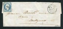 Rare Lettre De St Louis Pour Soultzmatt ( 1853 ) Avec Un N° 10 Présidence - Signé Calves - 1852 Louis-Napoléon