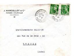 E 5 1941 Carte/ Enveloppe Entete Forges D'eurville à  Eurville - Poststempel (Briefe)