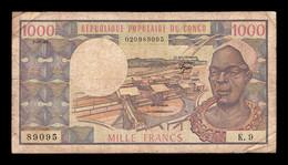 Congo 1000 Francs 01.01.1982 Pick 3e BC F - República Del Congo (Congo Brazzaville)