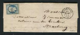 Rare Lettre De Haguenau Pour Strasbourg ( 1853 ) Avec Un N° 10 Présidence - 1852 Louis-Napoléon