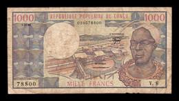Congo 1000 Francs 01.01.1982 Pick 3e BC F - Republik Kongo (Kongo-Brazzaville)