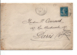 SEMEUSE SUR LETTRE DE CHOMELIX HAUTE LOIRE 1922 - Poststempel (Briefe)