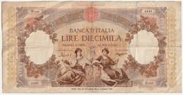10000 Lire -  Banca D'Italia   Decr. 27 Octobre 1953 E7  Maggio 1948 - Non Classificati