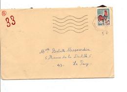 OBLITERATION MECANIQUE DE ISTRES AIR BOUCHES DU RHONE 1966 - Poststempel (Briefe)