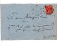 LETTRE DE COURNON D'AUVERGNE PUY DE DOME 1931 - Poststempel (Briefe)