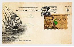 Spain 2018 - Discoverers Of Oceania - Alvaro De Mendaña Y Neira FDC - 2011-... Unused Stamps