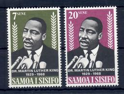 SAMOA * 1968 * Complete Set 2 Stamps * MNH** Martin Luther King - Mi.No 185-186 - Samoa