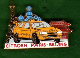 Pin's Citroën Paris Beijing  Zamac  Arthus Bertrand - Arthus Bertrand
