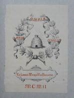 Ex-libris Illustré Début XXème - ITALIE - MARIO VIO BONATO - Ex Libris