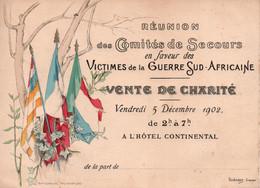 COMITES DE SECOURS VICTIMES GUERRE SUD AFRICANE 1902 BOERS - Historische Dokumente