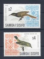 SAMOA * 1969 * Complete Set 2 Stamps * MNH** Birds - Mi.No 199-200 - Samoa