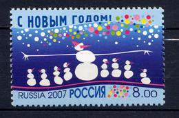 RUSSIE RUSSIA 2007, Yvert 7024, Nouvel An, Bonhommes De Neige, 1 Valeur, Neuf / Mint. R7024 - Ongebruikt