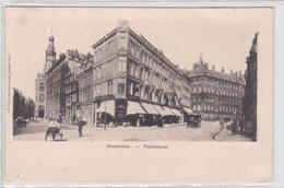 Amsterdam Paleisstraat Spuistraat Paardentram Volk ± 1901    1384 - Amsterdam