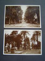 2 X CARTE POSTALE Ancienne 1928 : AVENUE GAMBETTA & BELGIQUE / HYERES / VAR ( 83 ) - Hyeres
