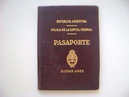 ARGENTINA - PASSPORT ISSUED IN 1929 IN THE STATE - Historische Dokumente