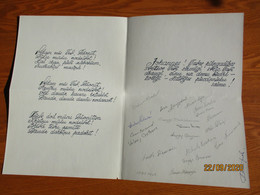 1991 LATVIA AUTOGRAPHS OF PENTATHLON SPORTSMEN OLYMPICS  , 0 - Autographs