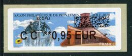"""LISA De 2020 - """"CC **0,95 EUR - ECOPLI - SALON PHILATELIQUE DE PRINTEMPS - DOLE 2020"""" - 2010-... Illustrated Franking Labels"""
