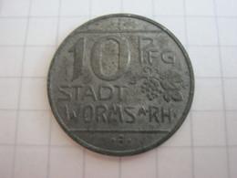 Worms 10 Pfennig 1918 - [ 2] 1871-1918: Deutsches Kaiserreich