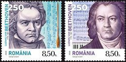 Romania 2020 / Beethoven - 250 Years / Set 2 Stamps - Nuevos