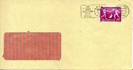 LUXEMBOURG. N°1071 De 1985 Sur Enveloppe Ayant Circulé. Escrime. - Escrime