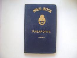 ARGENTINA - PASSPORT ISSUED IN 1959 IN THE STATE - Historische Dokumente