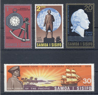 SAMOA * 1970 * Complete Set 4 Stamps * MNH** Captain James Cook - Mi.No 222-225 - Samoa