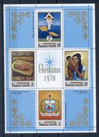 SAMOA * 1970 * M/Sheet (4 Stamps) * MNH** Christmas - Mi.No BL 2 - Samoa
