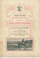 Ville De SPA, Belgique - Programme Du Concours Hippique International 1902 - Programme