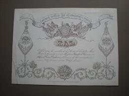 YPRES - SOCIETE ROYALE DE ST. SEBASTIEN - CARTE D'INVITATION PORCELAINE 17.5 X 13 - Ieper